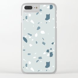 Terrazzo blues Clear iPhone Case
