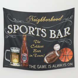 Sports Bar Sign Wall Tapestry