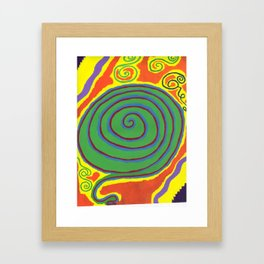 The Swirl of Life Framed Art Print