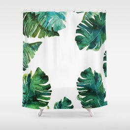 tropical Leaves NEW||| Shower Curtain