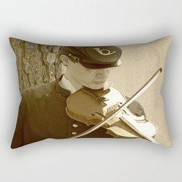 Civil War Fiddle Player Rectangular Pillow