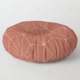 Gisela Geometric Line Pattern - Pomegranate Red Floor Pillow