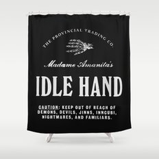 Idle Hand Shower Curtain