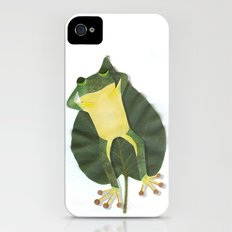 Lazy frog. Slim Case iPhone (4, 4s)