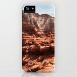 Unusual Rock Formations at Kodachrome Park, Utah iPhone Case