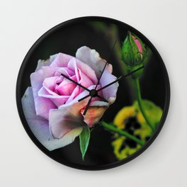 Rose And The Litlle Black Beetle Wall Clock