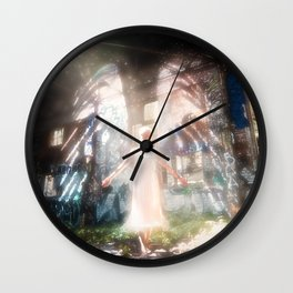 Her Winged Elegance Wall Clock