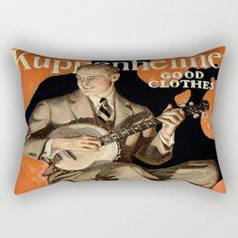 Banjo Player; Vintage Men's Fashion Poster Rectangular Pillow