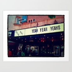 Yeah Yeah Yeah's in London Art Print