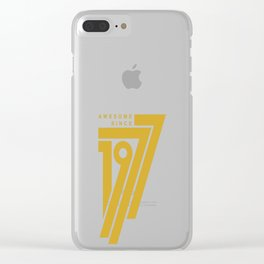 Awesome Since 1977 Clear iPhone Case