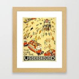 Vintage poster - London Underground Framed Art Print