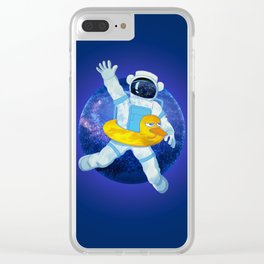 Float in Space Clear iPhone Case