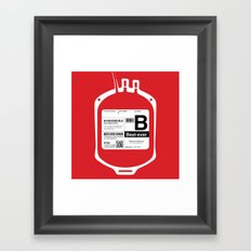 My Blood Type is B, for Best-ever! Framed Art Print