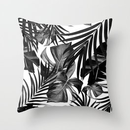 Tropical Jungle Leaves Pattern #10 #tropical #decor #art #society6 Throw Pillow