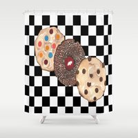 cookies Shower Curtains featuring Eat Cookies by Sartoris ART