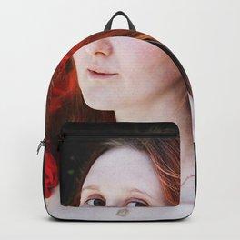 Rose portrait Backpack