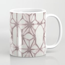 Simply Shibori Stars in Red Earth on Lunar Gray Coffee Mug