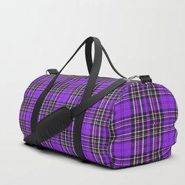 Lunchbox Purple Plaid Duffle Bag