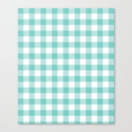 Turquoise Vichy Canvas Print