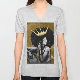 Naturally Queen VI GOLD Unisex V-Neck