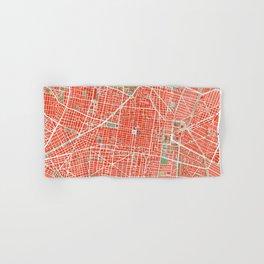 Mexico city map classic Hand & Bath Towel