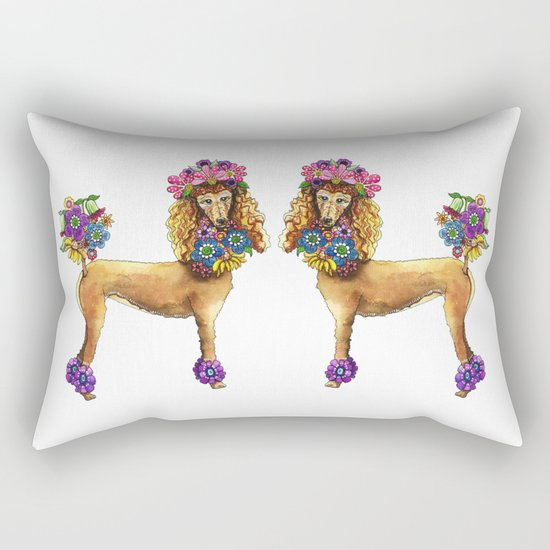 Poodle Dee Doo Rectangular Pillow