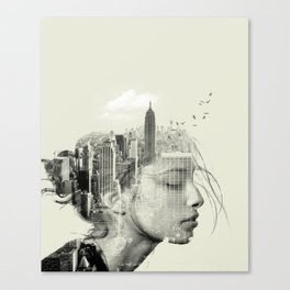 Reflection, New York City Canvas Print