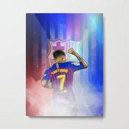 Philippe Coutinho FC Barcelona Metal Print
