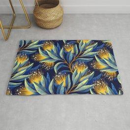 Pohutukawa - Yellow / Blue Rug