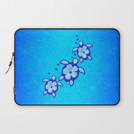 3 Blue Honu Turtles Laptop Sleeve