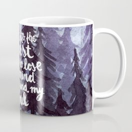 Into the Forest watercolor trees Coffee Mug