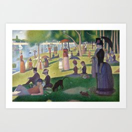Georges Seurat - A Sunday Afternoon on the Island of La Grande Jatte Art Print