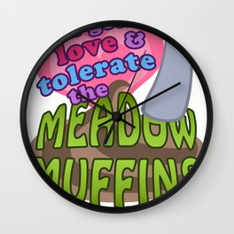 Meadow Muffins Wall Clock