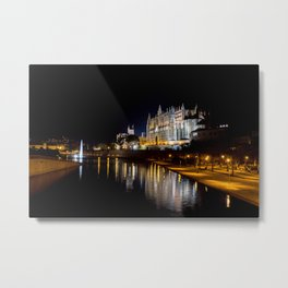 Cathedral of Palma de Mallorca at night Metal Print
