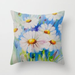 Chamomile Throw Pillow