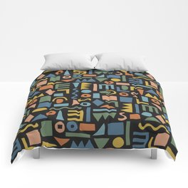 Colorful Shapes Comforters