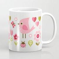 karu kara Mugs featuring JARDIN DE L'AMOUR by Daisy Beatrice