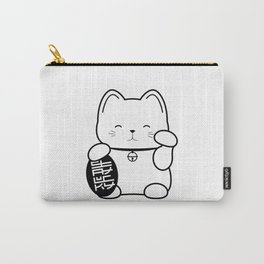 Stay Lucky WHT Carry-All Pouch
