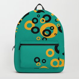 Vintage Retro Design with Rings turquoise Backpack
