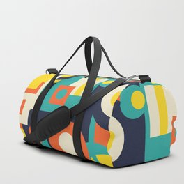 Funky Geometry (Modern Vibrant Color Palette) Duffle Bag