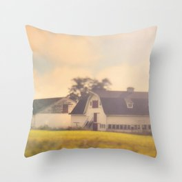 Morning At The Dairy Throw Pillow