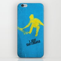 skateboard iPhone & iPod Skins featuring skateboard  by Easyposters