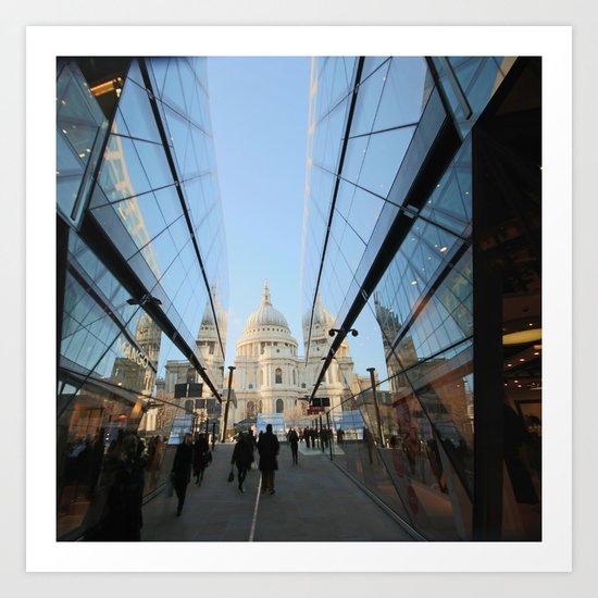 St Paul's Reflected Art Print