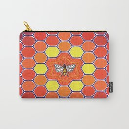 Bee Sacred Geometry Carry-All Pouch