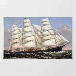 Clipper Ship Three Brothers Rug