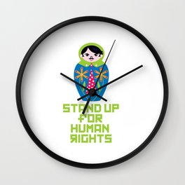Stand for Human Rights—Male Nesting Doll Wall Clock