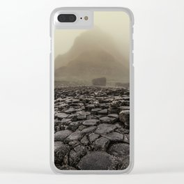 The land of mountains and stones Clear iPhone Case