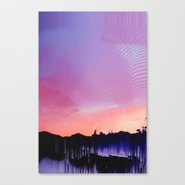 Glitched Landscapes Collection #7 Canvas Print