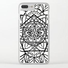 Symbol Mandala Clear iPhone Case