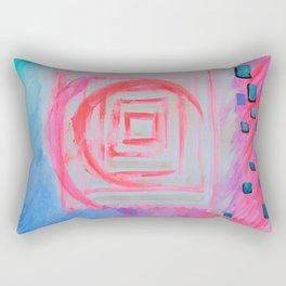 Blue Pink Rectangular Pillow